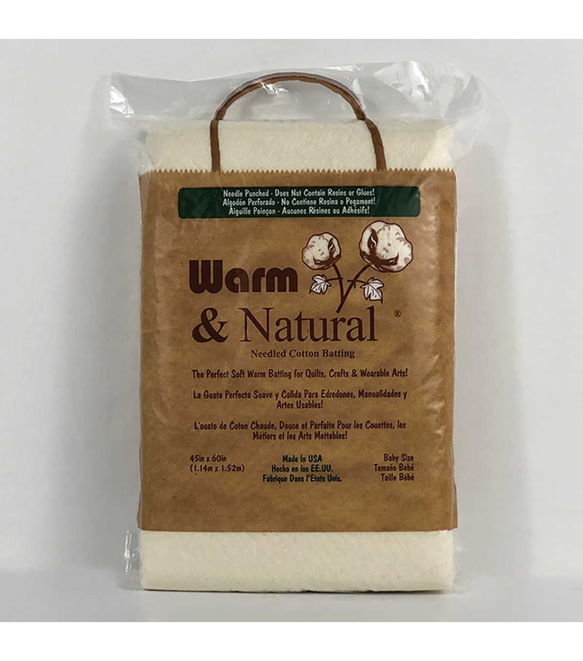 The Warm Company Warm & Natural® Cotton Needled Batting 45\u0027\u0027x60\u0027\u0027
