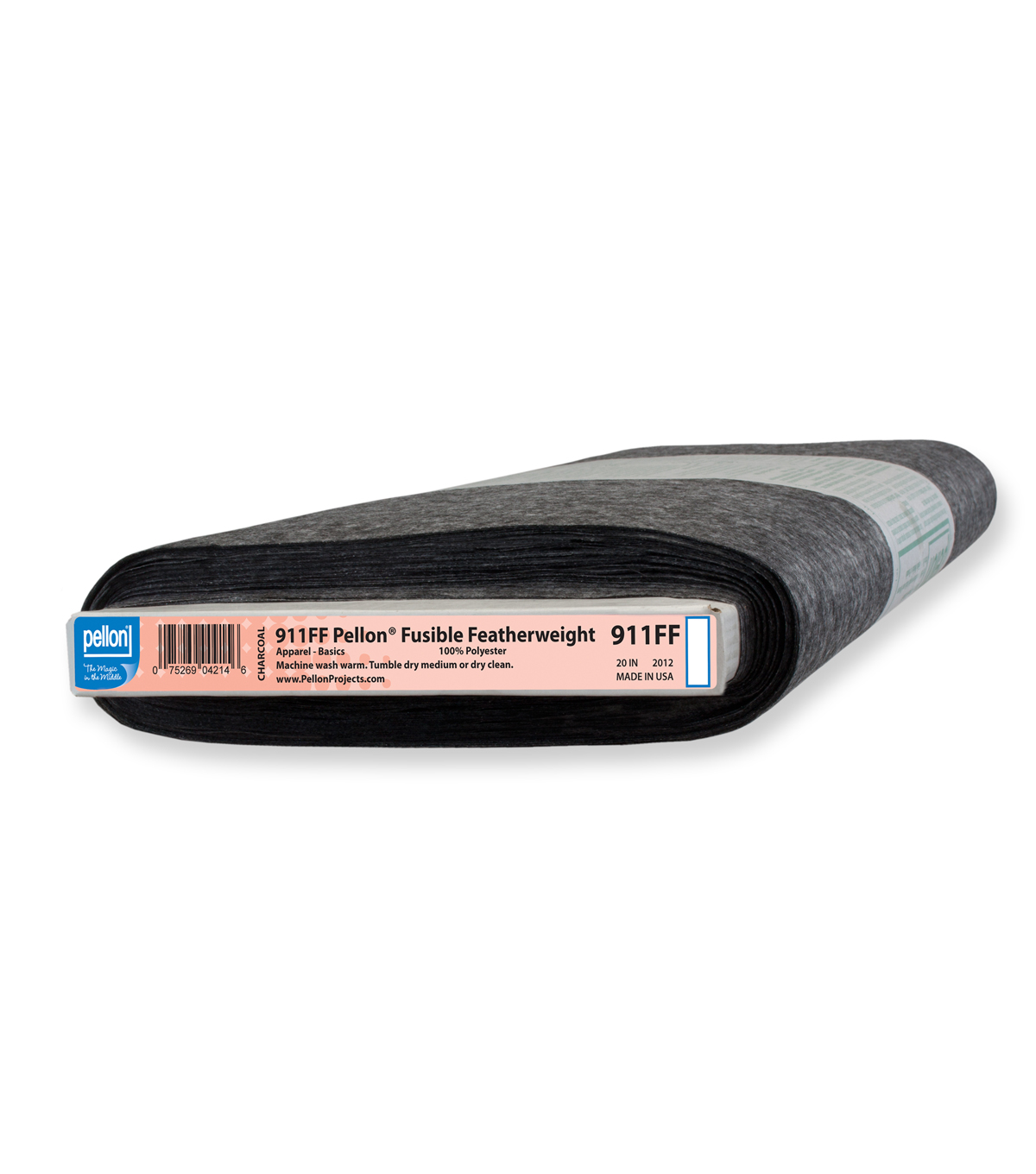 "Pellon® 911FF Fusible Featherweight, Charcoal, 20"" width, by-the-yard"