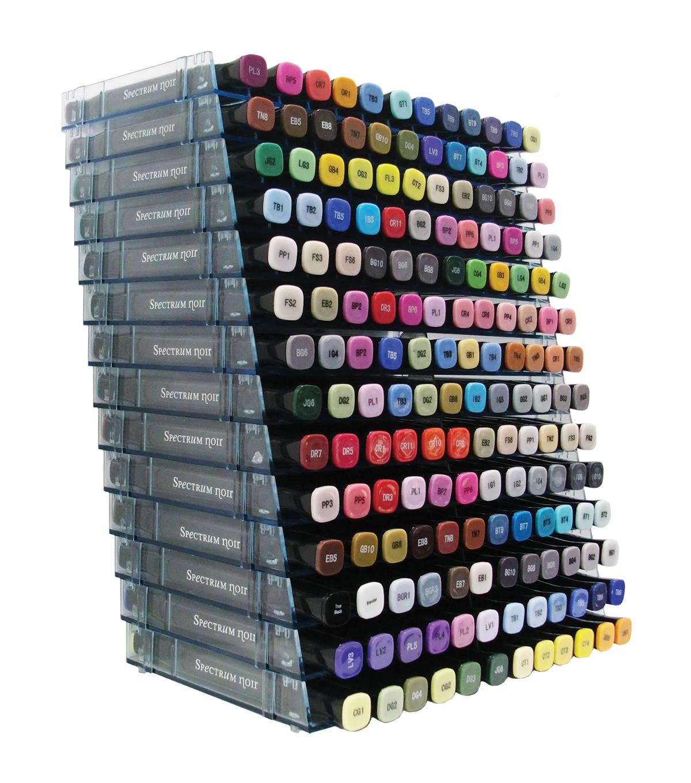 Spectrum Noir Marker Storage Racks 14 Pack Clear