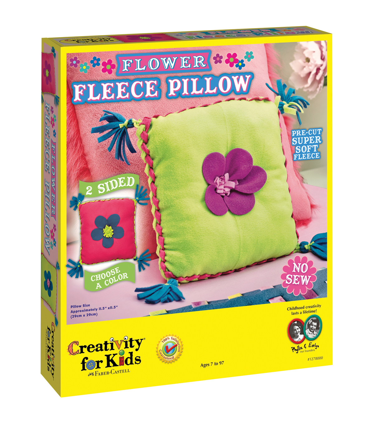 Creativity for Kids® Flower Fleece Pillow Kit