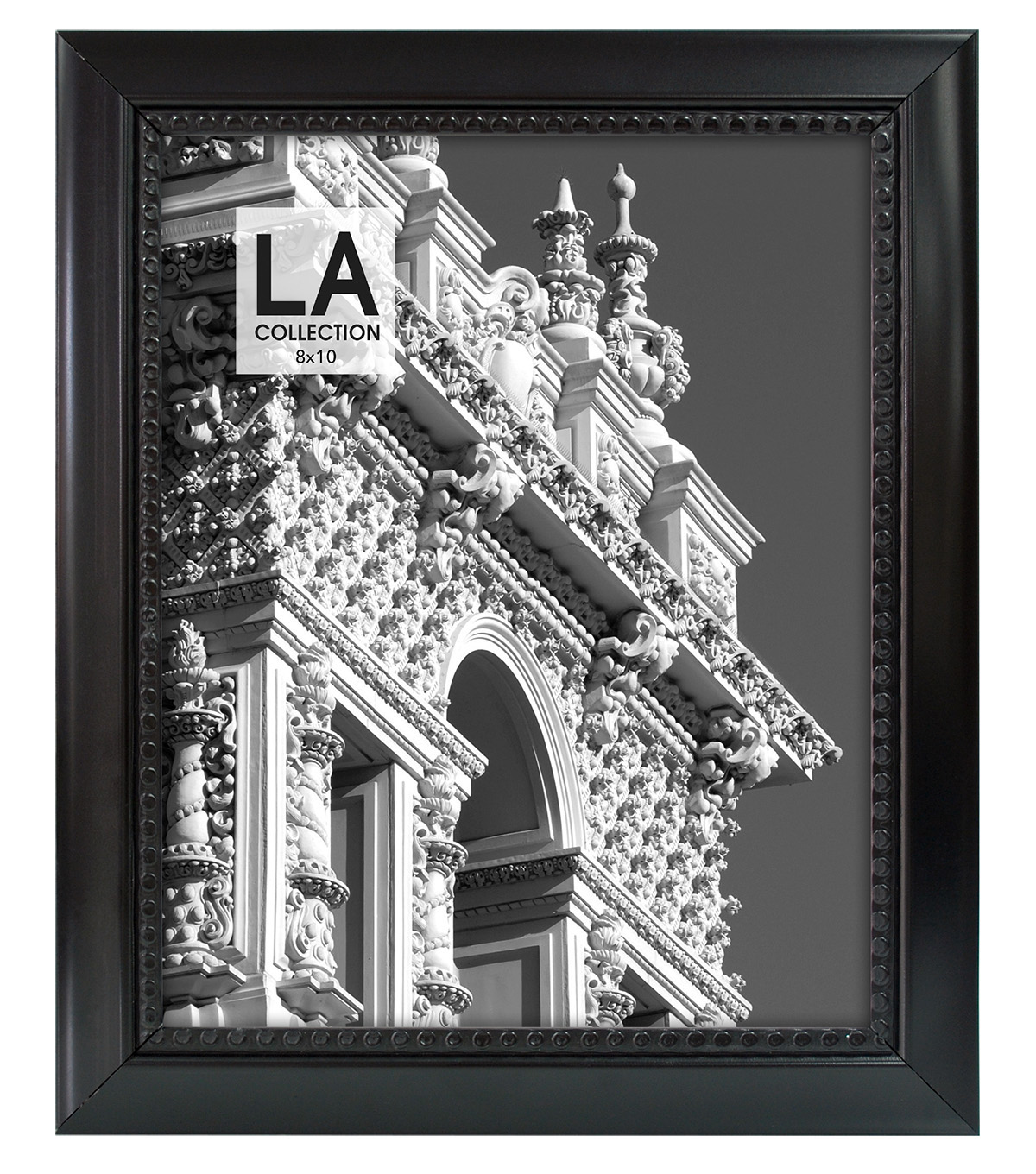 LA Collection Beaded Frame 8x10-Black