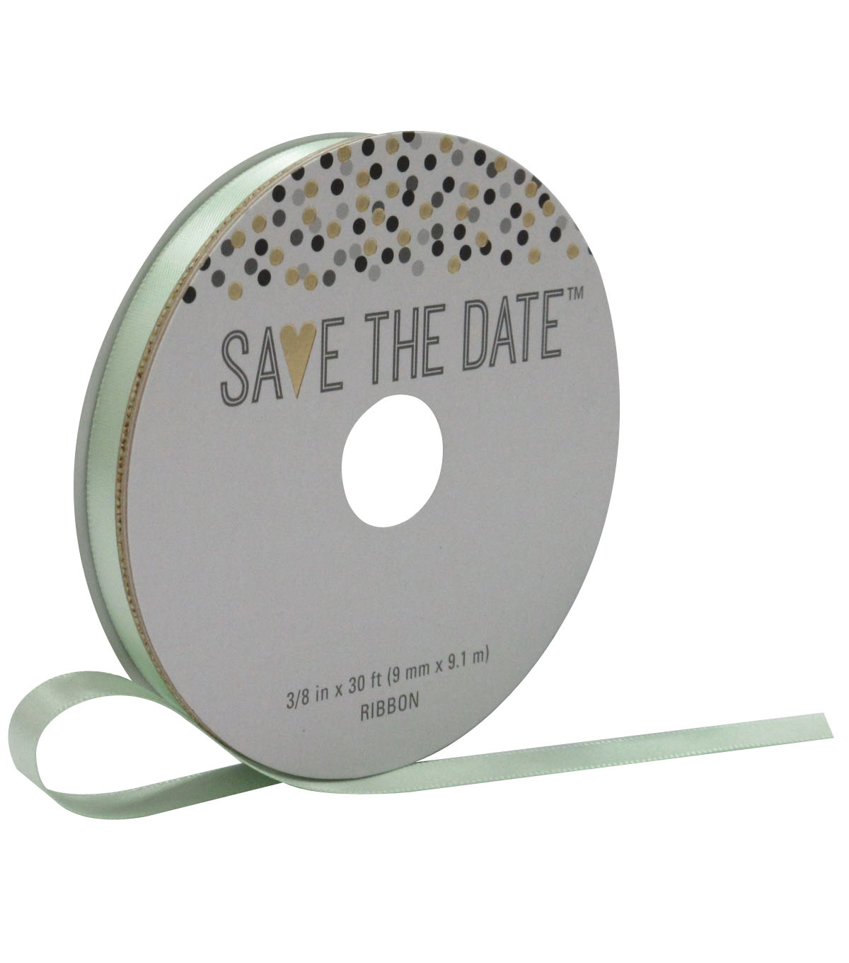 Save the Date 3/8\u0027\u0027 X 30\u0027 Ribbon-Green Satin