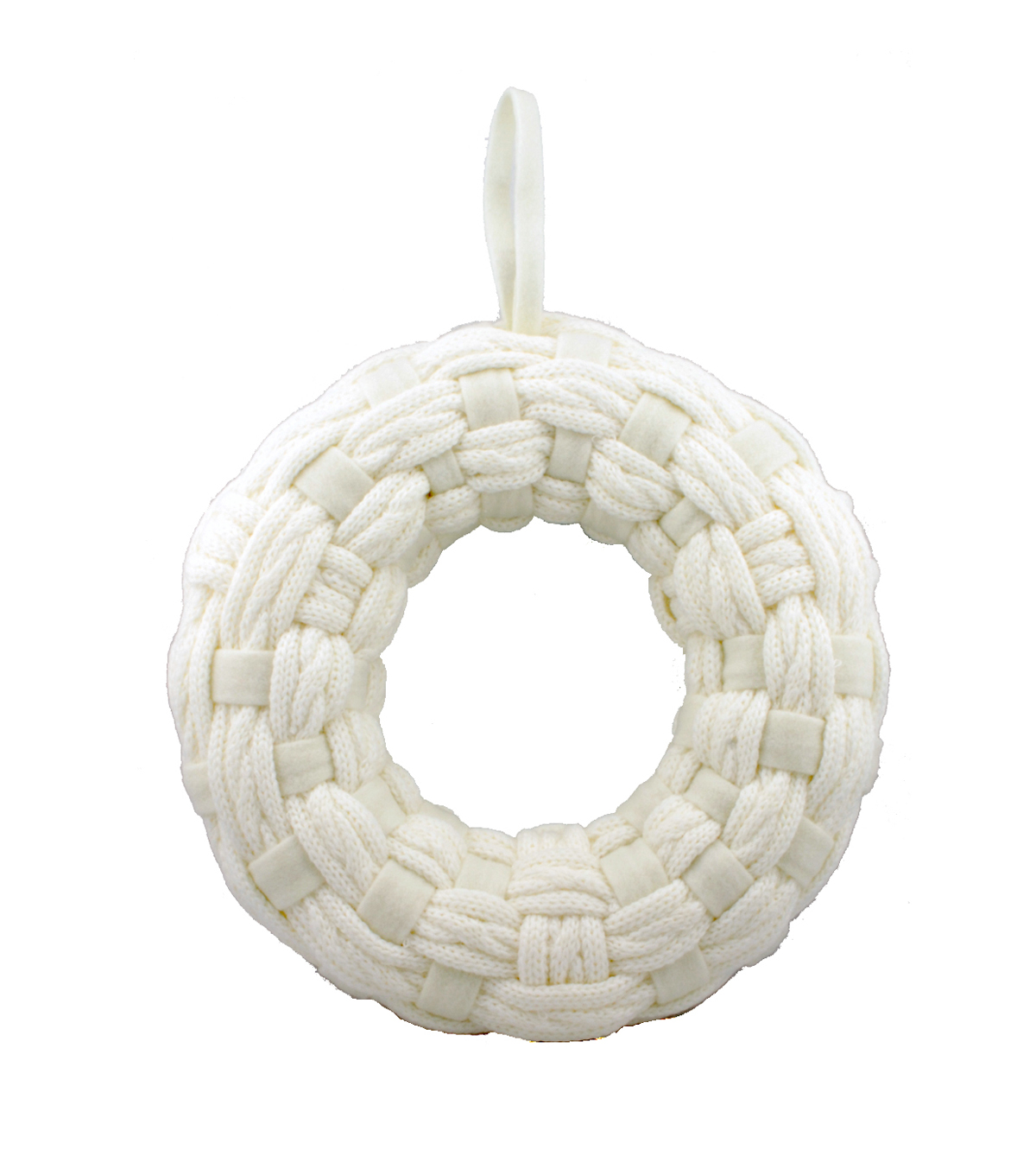 Maker's Holiday Knit Wreath-White