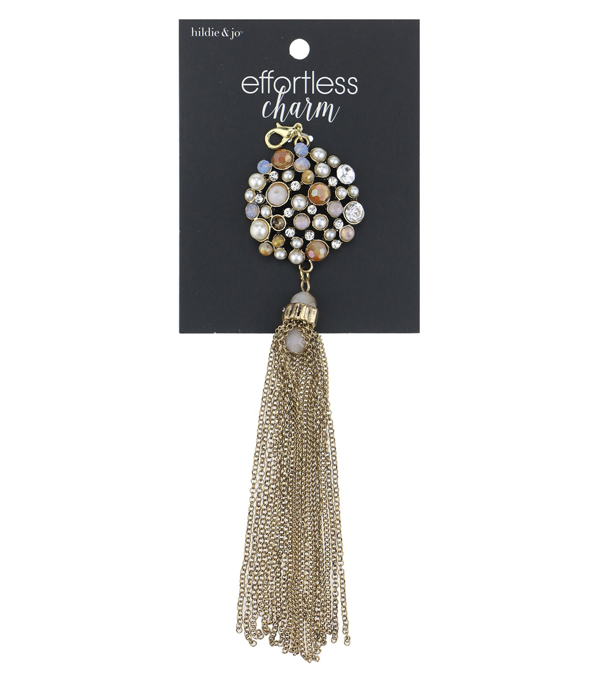 hildie & jo™ Effortless Charm Gold Tassel-Multi Beads