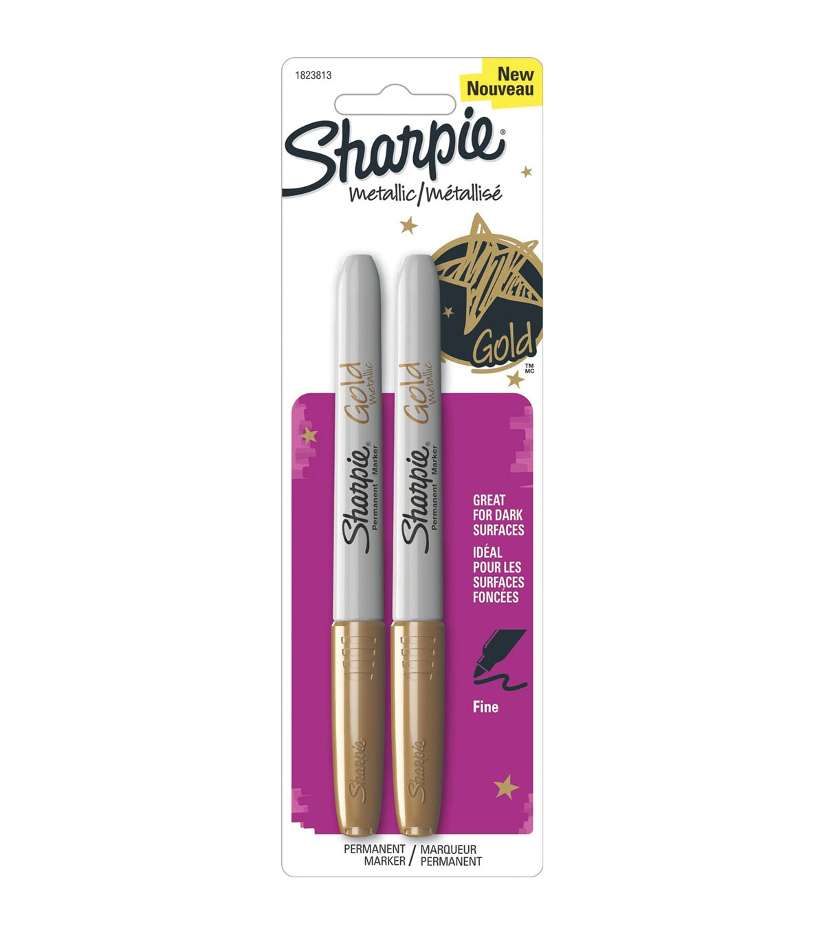 Sharpie Metallic Fine Point Permanent Markers 2/Pkg