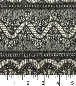 "Nicole Miller Sweater Knit Fabric 57""-Black and Ivory"