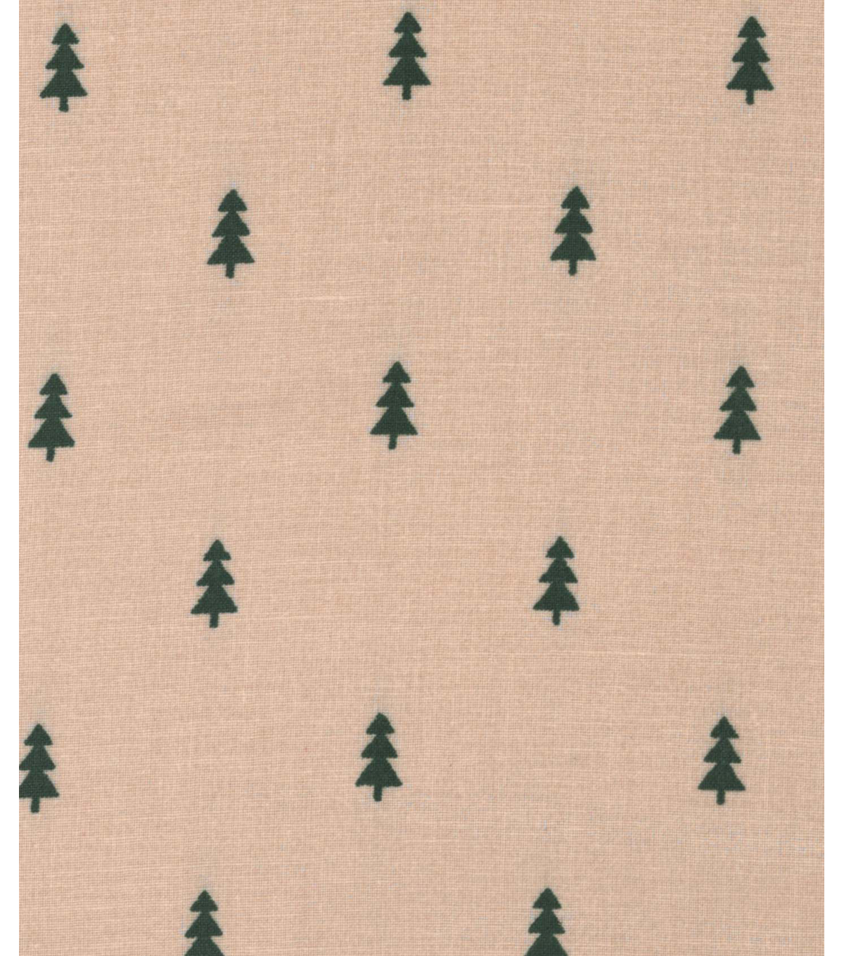 Holiday Showcase™ Christmas Cotton Fabric 43\u0027\u0027-Mini Christmas Trees on Beige