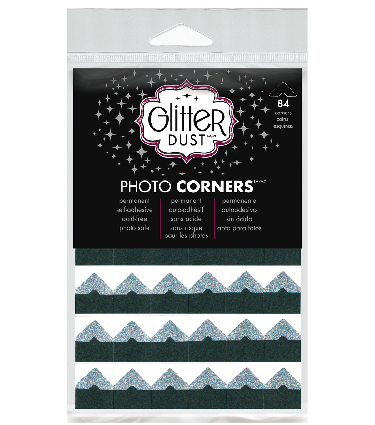 Glitter Photo Corners Silver Sheets can be used on Paper and Photo\u0027. Strong Adhesive