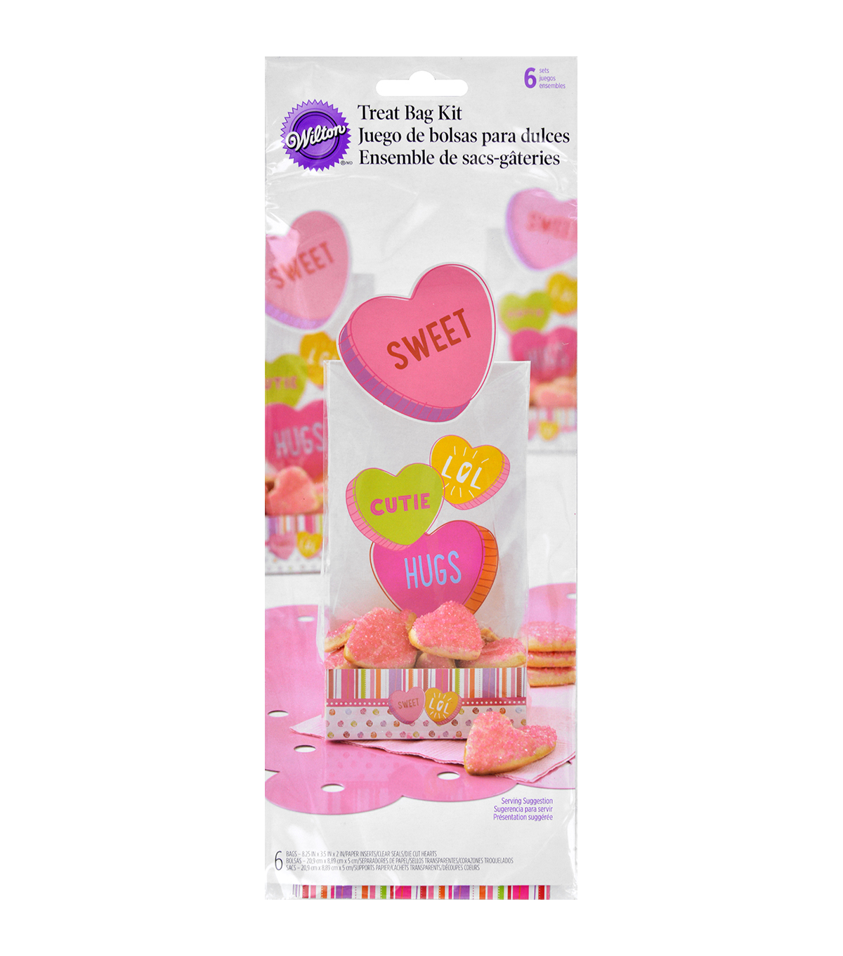 Wilton® Treat Bag Kits 6/Pkg-Words Can Express