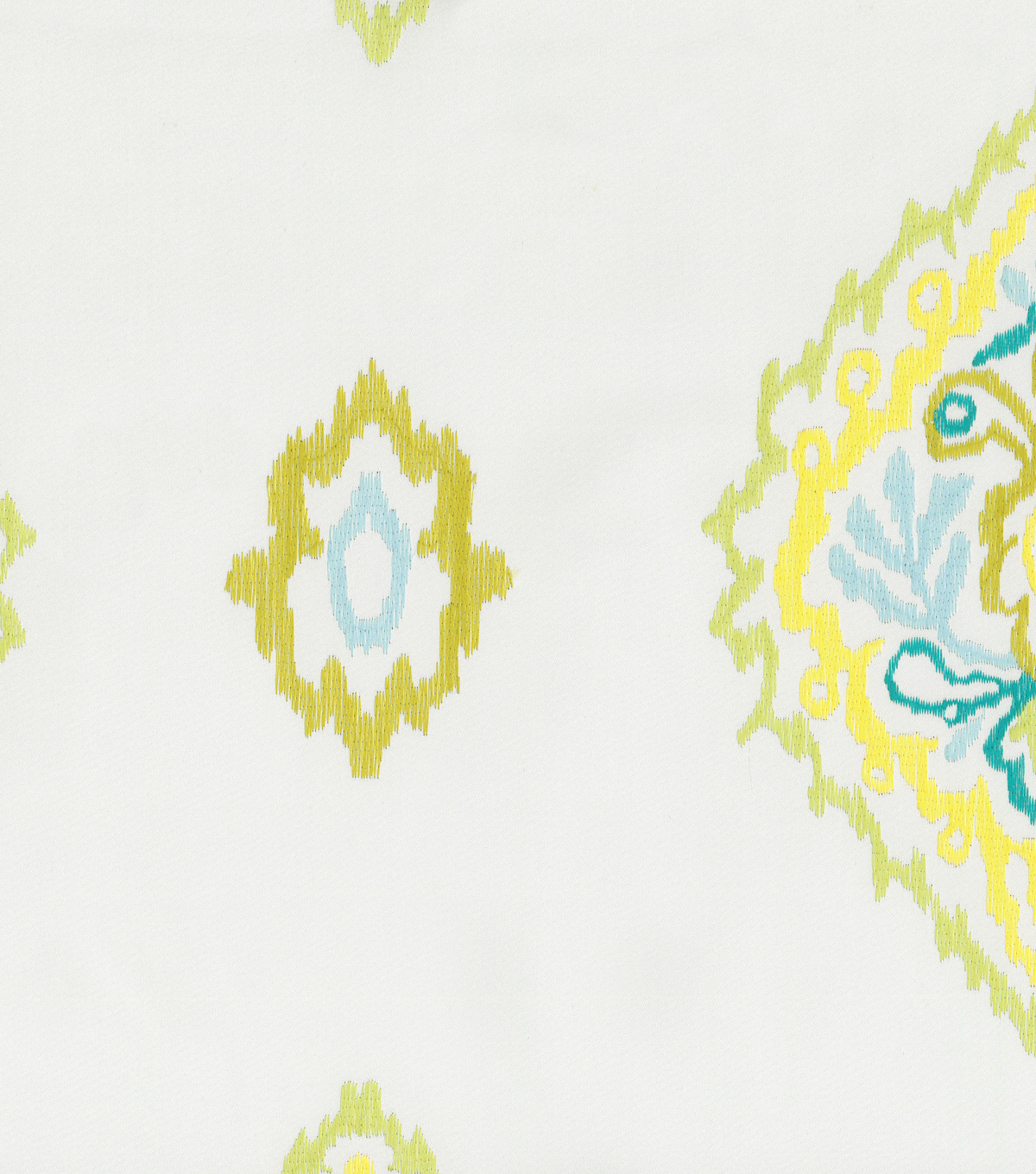 Home Decor 8\u0022x8\u0022 Fabric Swatch-Dena Wishful Embroidery Citrus