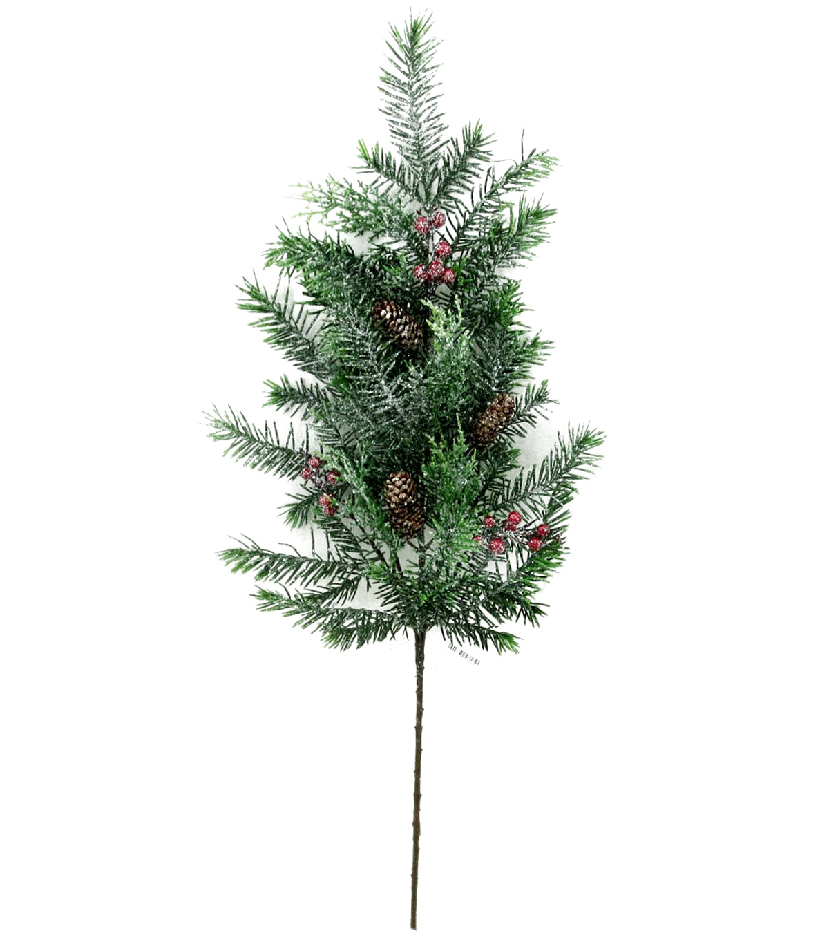 Blooming Holiday Douglas Fir, Cedar Spray With Berries & Pinecones