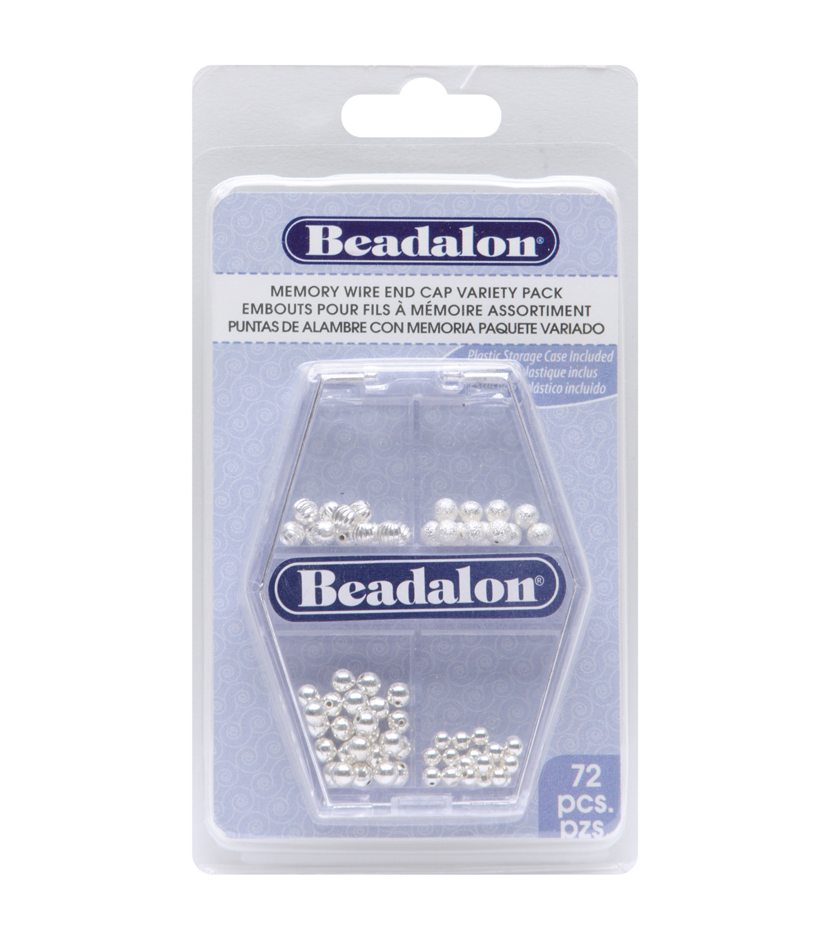 Memory Wire Endcap Variety Pack 72/Pkg-Silver