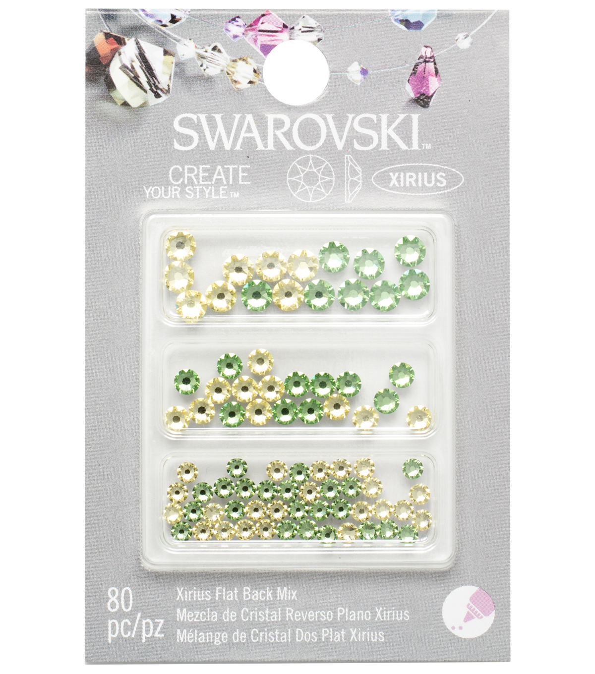 Create Your Style Swarovski Flat Back Crystals 90/Pkg-Jonquil/Peridot