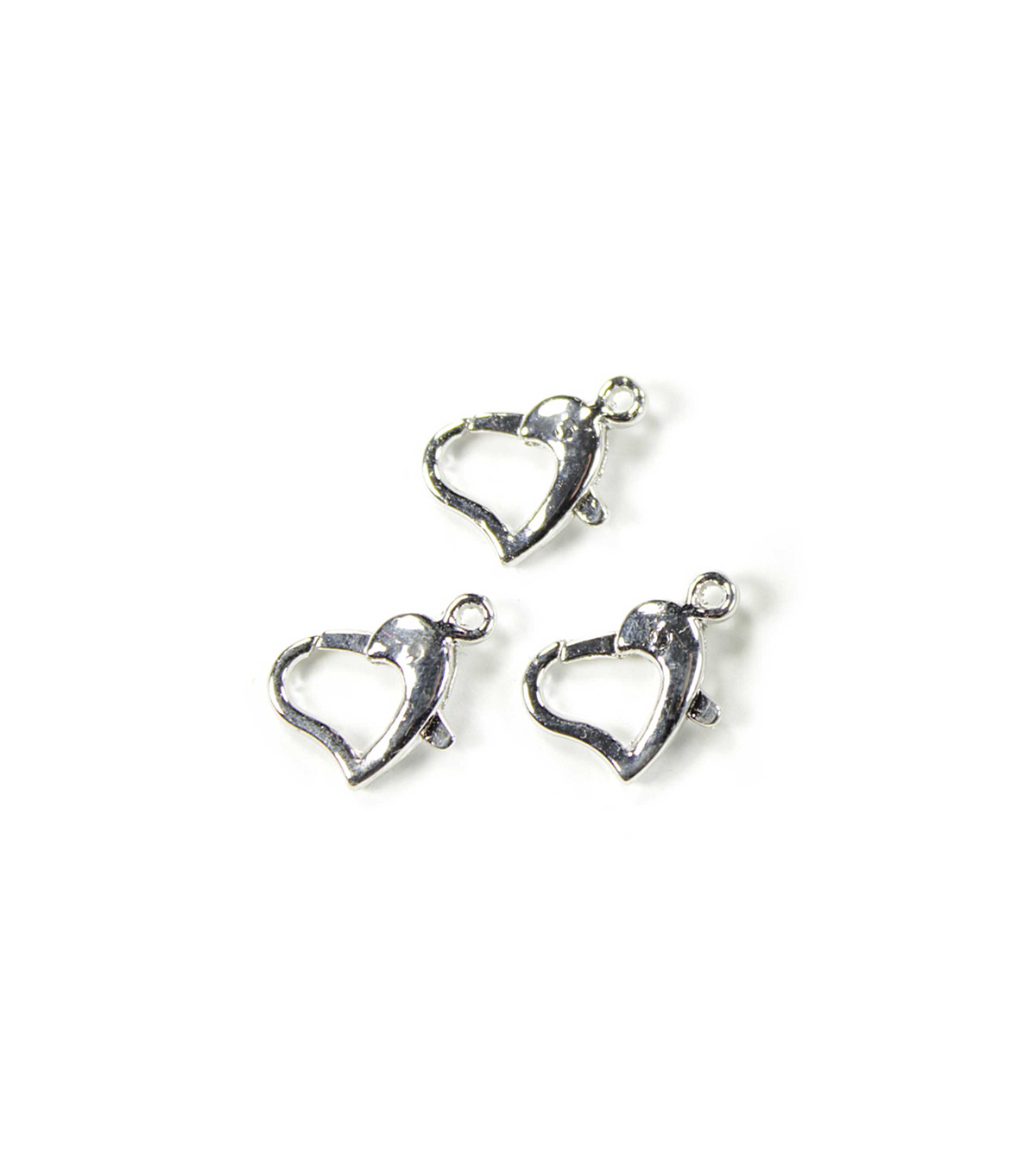 Blue Moon Findings Clasp Metal Lobster Heart 10mm Silver
