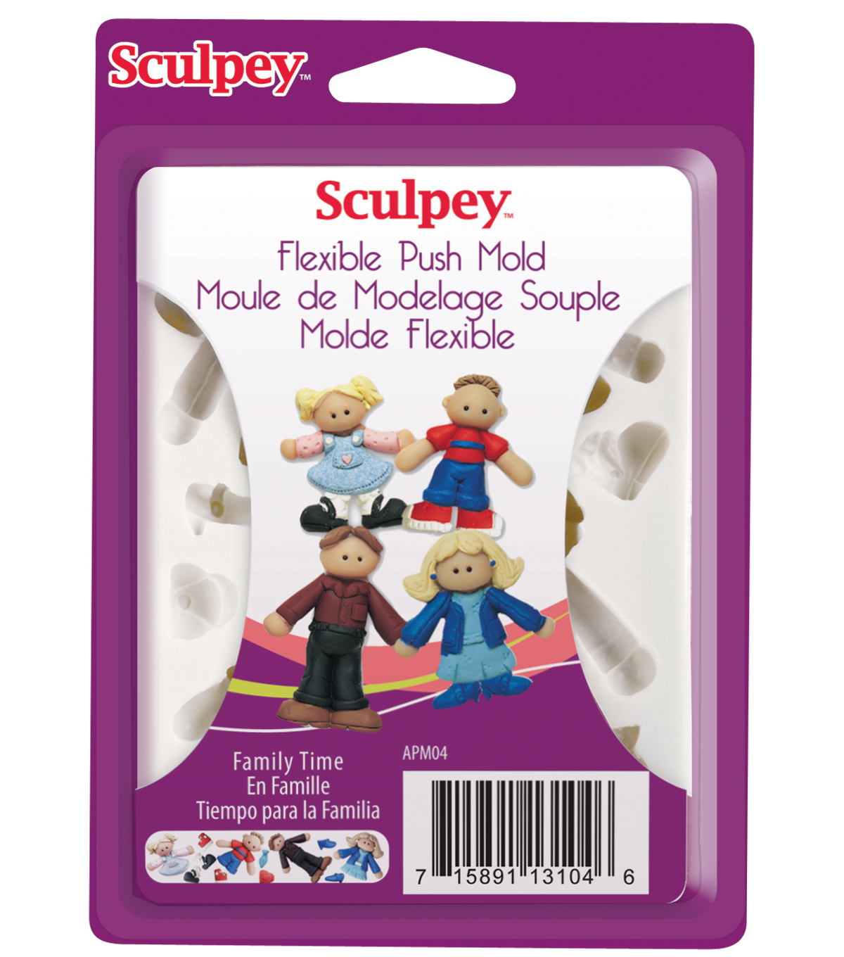 Sculpey Push Mold-Family Tree