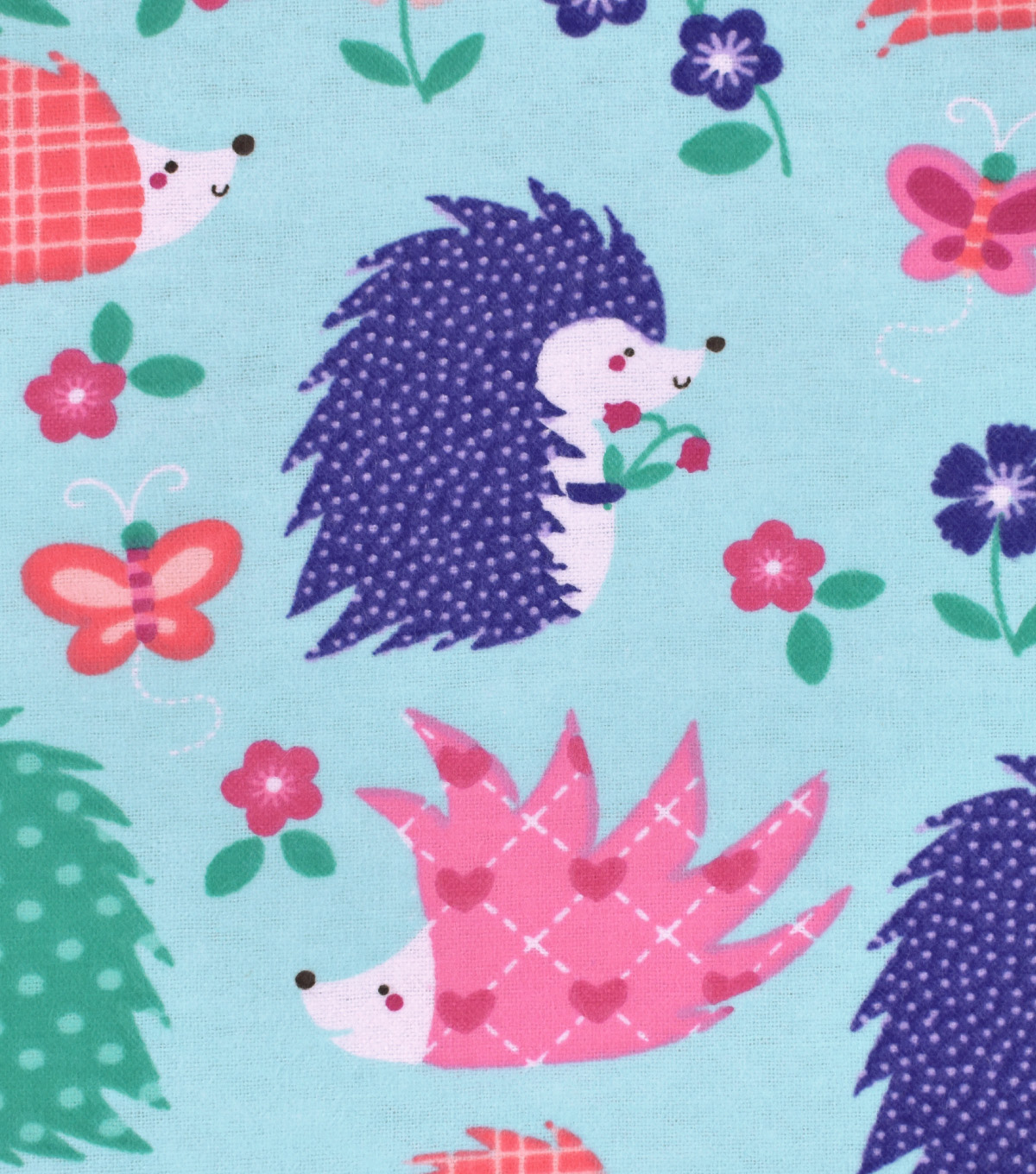 Snuggle Flannel Fabric 42\u0027\u0027-Happy Hedgehogs