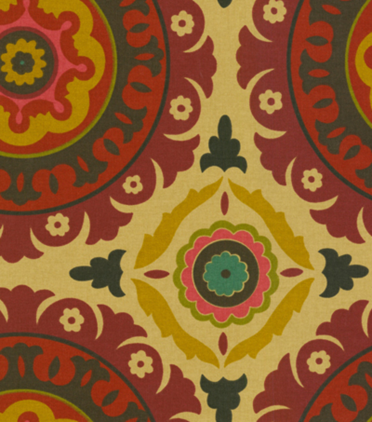 Waverly Upholstery Fabric 54\u0022-Solar Flair/Henna