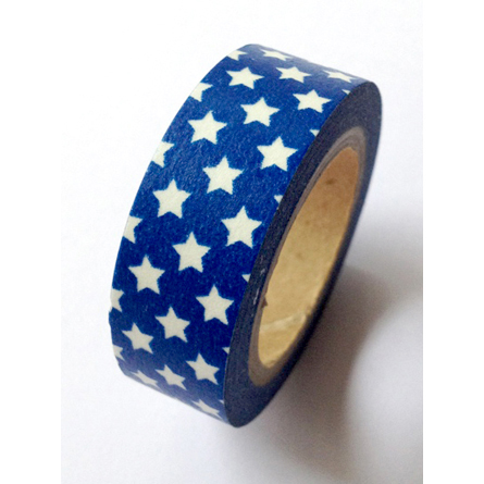 Love My Tapes Washi Tape Blue With White Stars