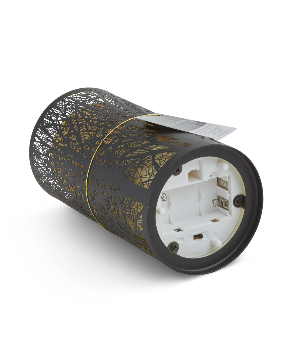 Hudson 43™ Candle & Light Collection 3X7 Black Tree Laser Etched Metal