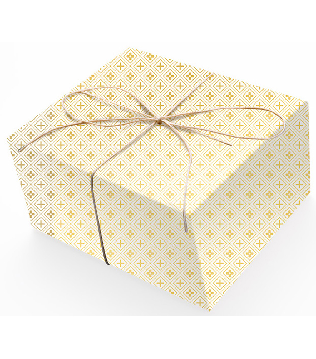 K&Company White And Gold Geo Paper Roll
