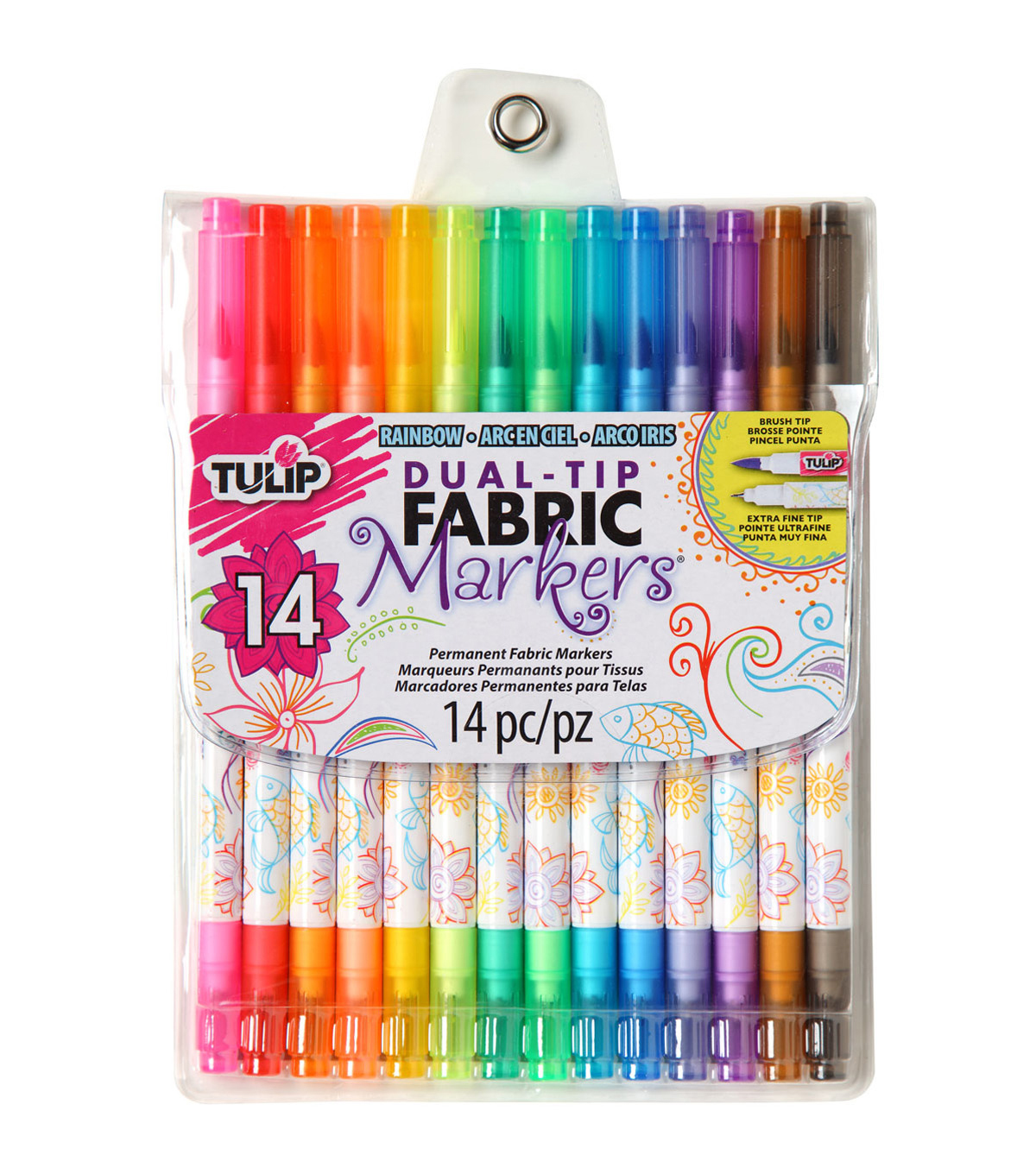 Fabric paint markers fabric painting supplies joann tulip dual tip fabric markers 14pk nvjuhfo Gallery
