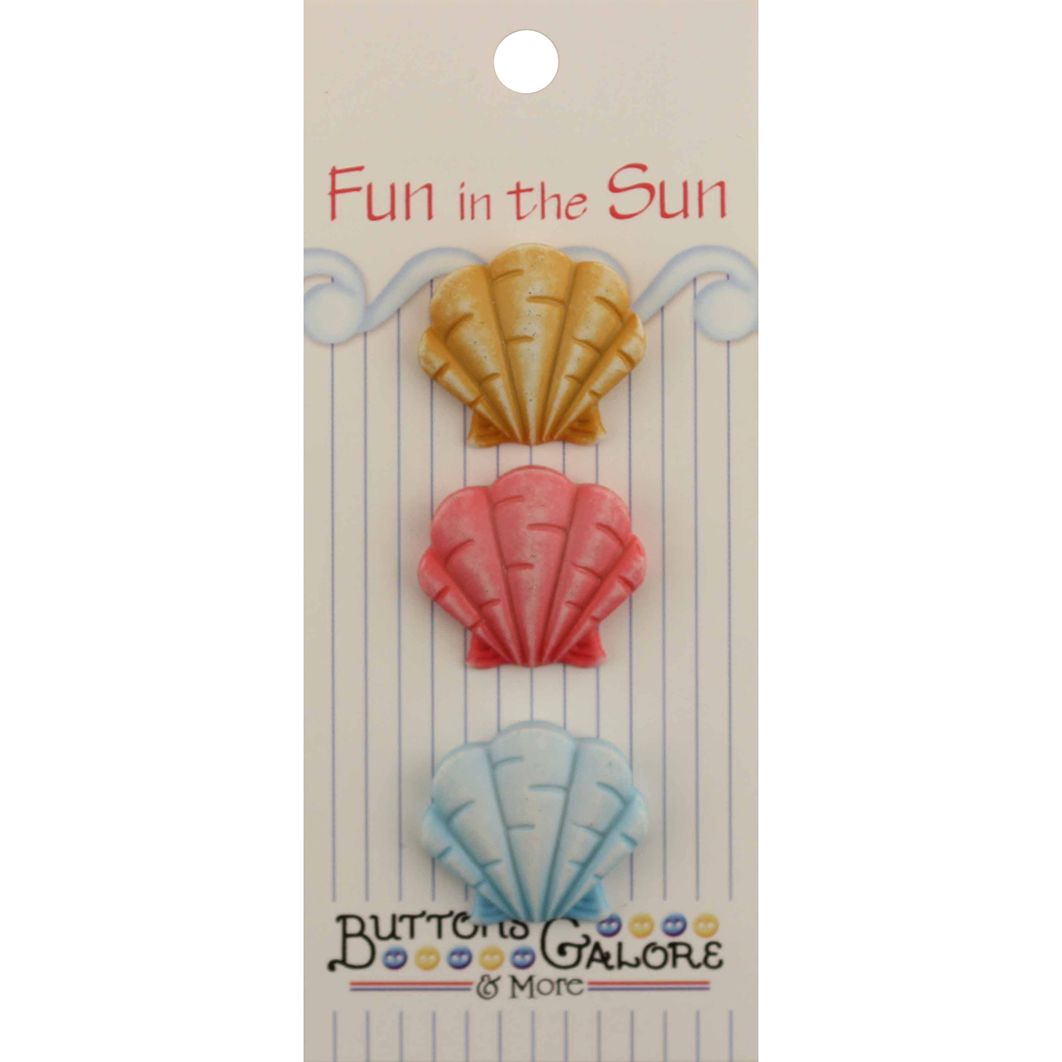 Fun In The Sun Buttons-Fan Shells