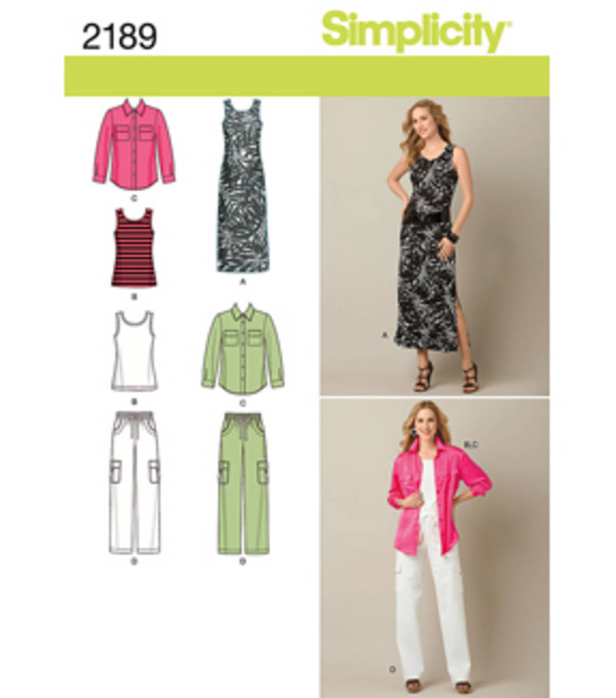 Simplicity Pattern 2189AA 10-12-14-1-Simplicity Misses