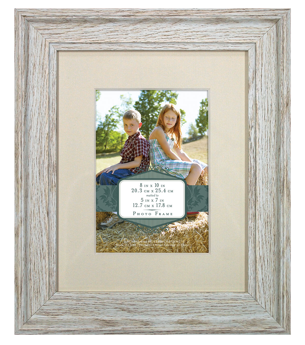 Wall Frame 8X10 To 5X7-Distressed Cream