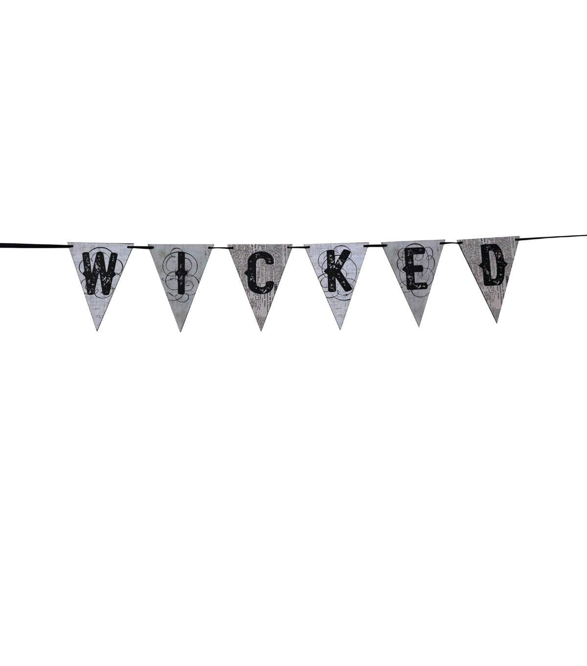 Maker's Halloween Pennant Banner-Wicked