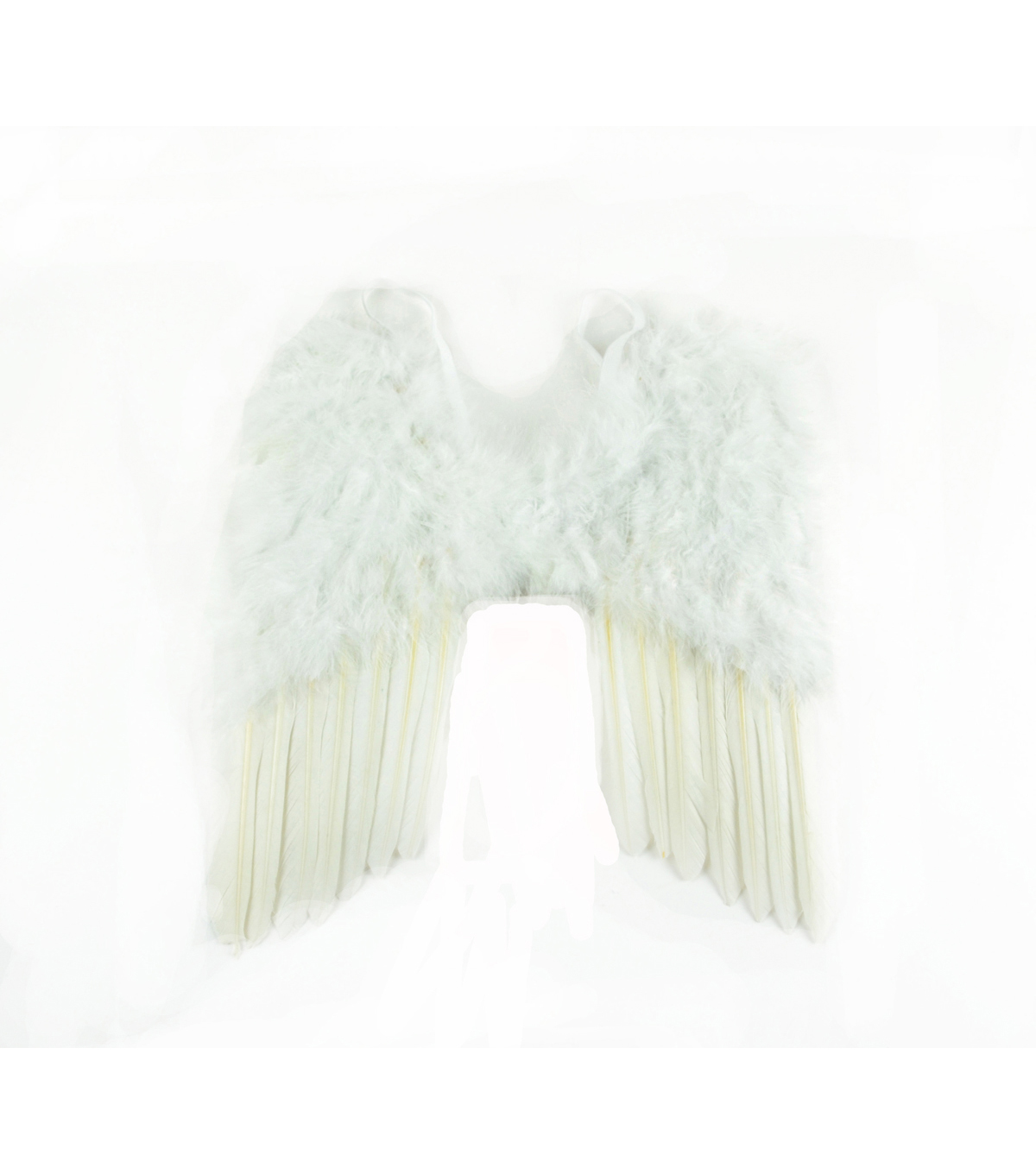 Maker's Halloween Small Feather Angel Wings-White