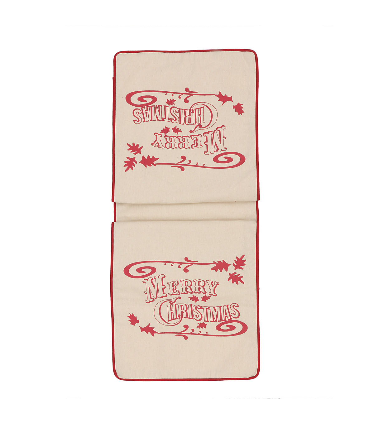 3R Studios Christmas 72\u0027\u0027x14\u0027\u0027 Cotton Table Runner-Merry Christmas