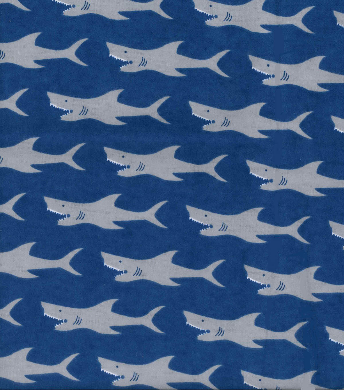 Snuggle Flannel Fabric 42\u0022-Sharks