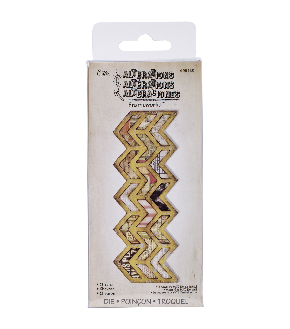 Sizzix Frameworks Border Die By Tim Holtz-Chevron