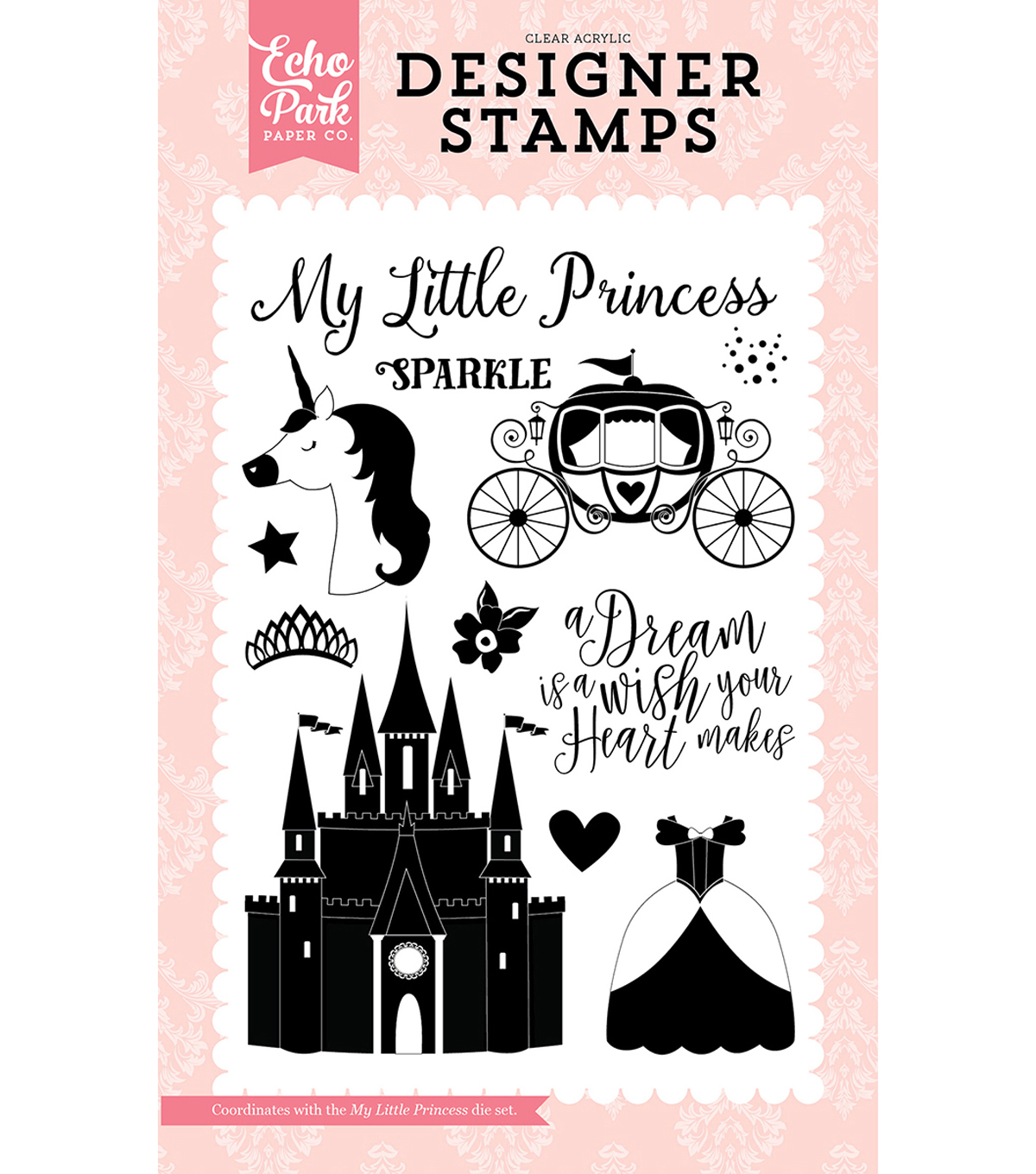 Stamps 4\u0022X6\u0022-Once Upon A Time, My Little Princess