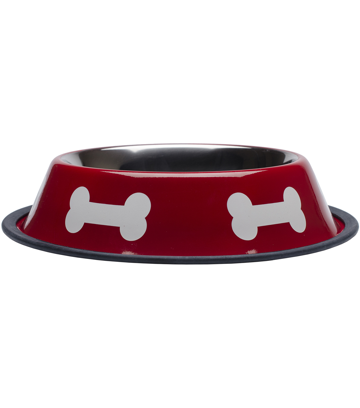 Westminster Pet Products Fashion Steel Red With White Bowl Bones 32oz
