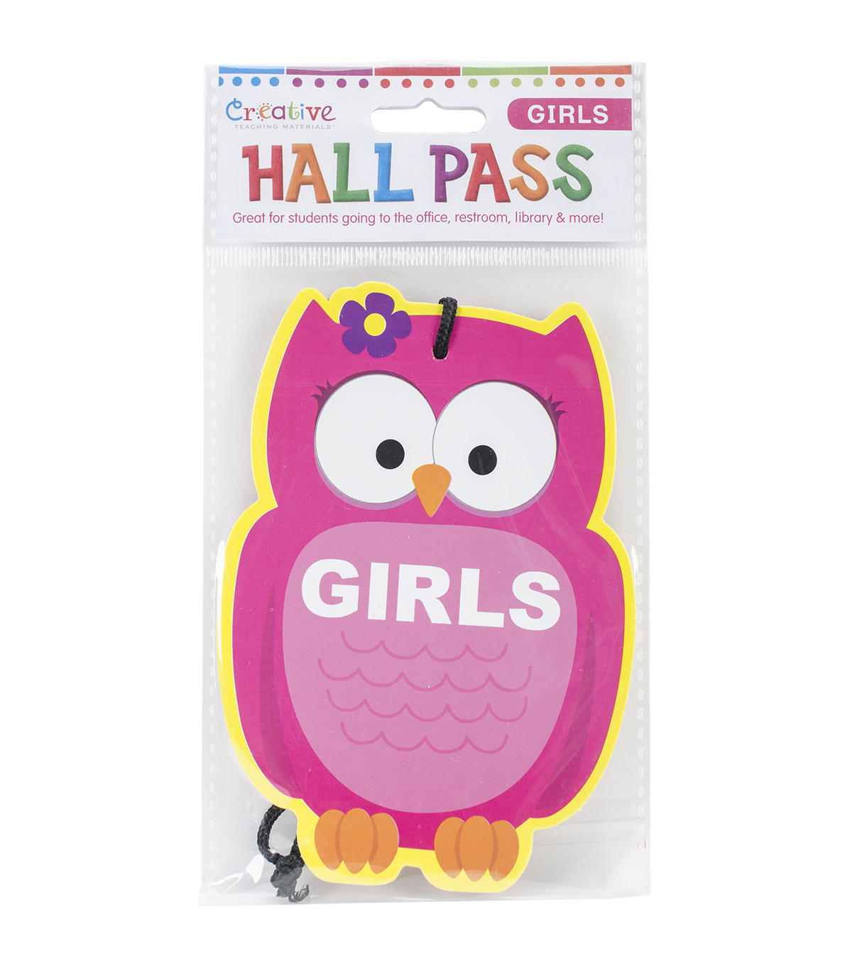 Creative Teaching Materials Laminated Hall Pass-Girls