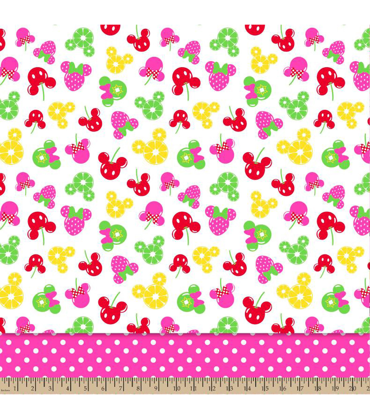 Disney® Minnie Mouse Fruitolicious Tiered Mock Smock Fabric