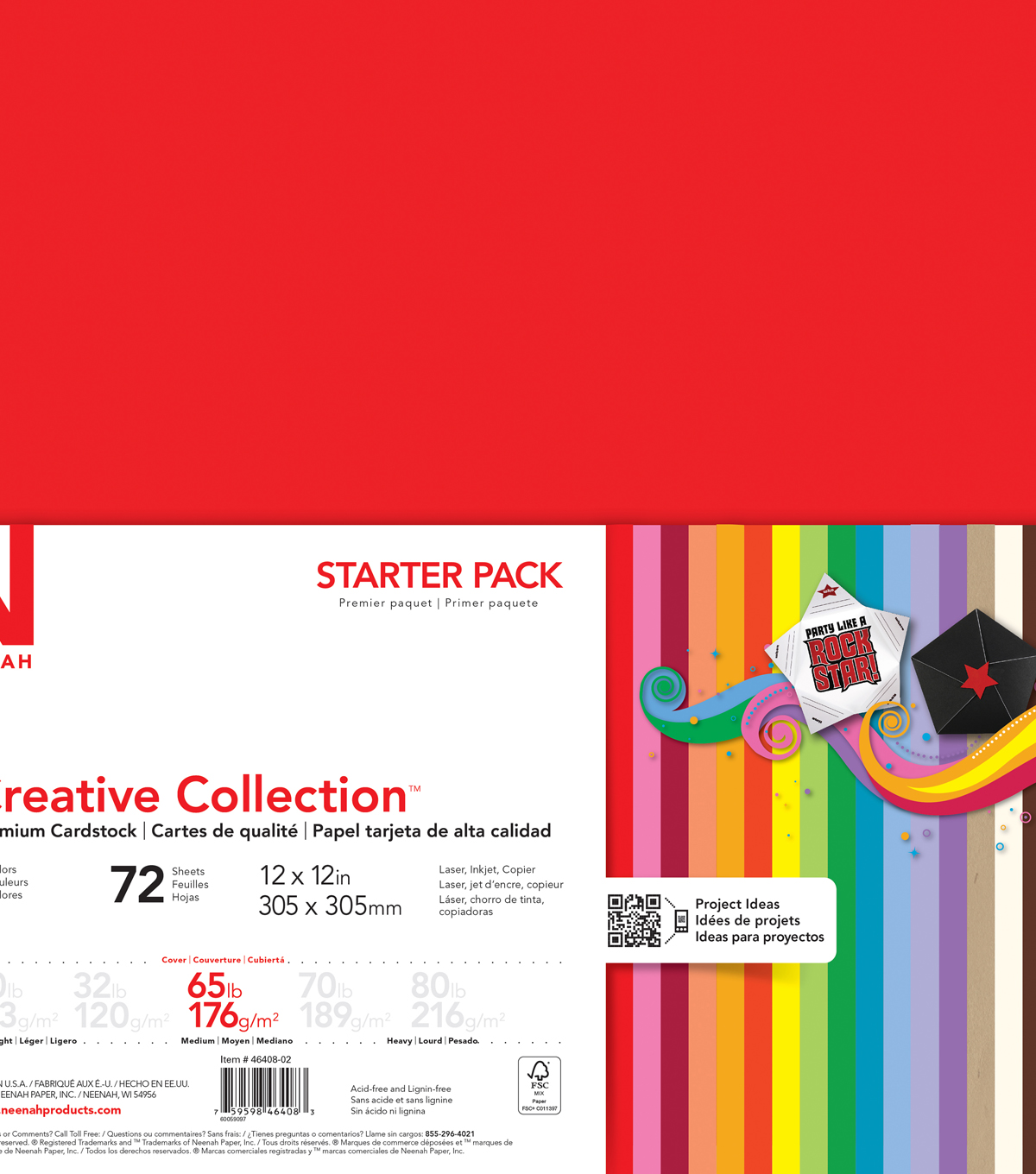 Creative Collection Cardstock Starter Pack 12\u0022X12\u0022-18 Bold
