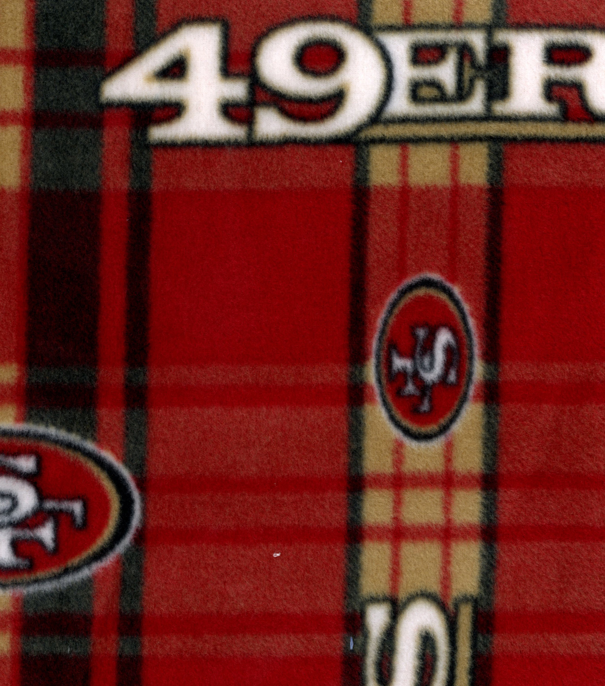 "San Francisco 49ers Fleece Fabric 58""-Plaid"
