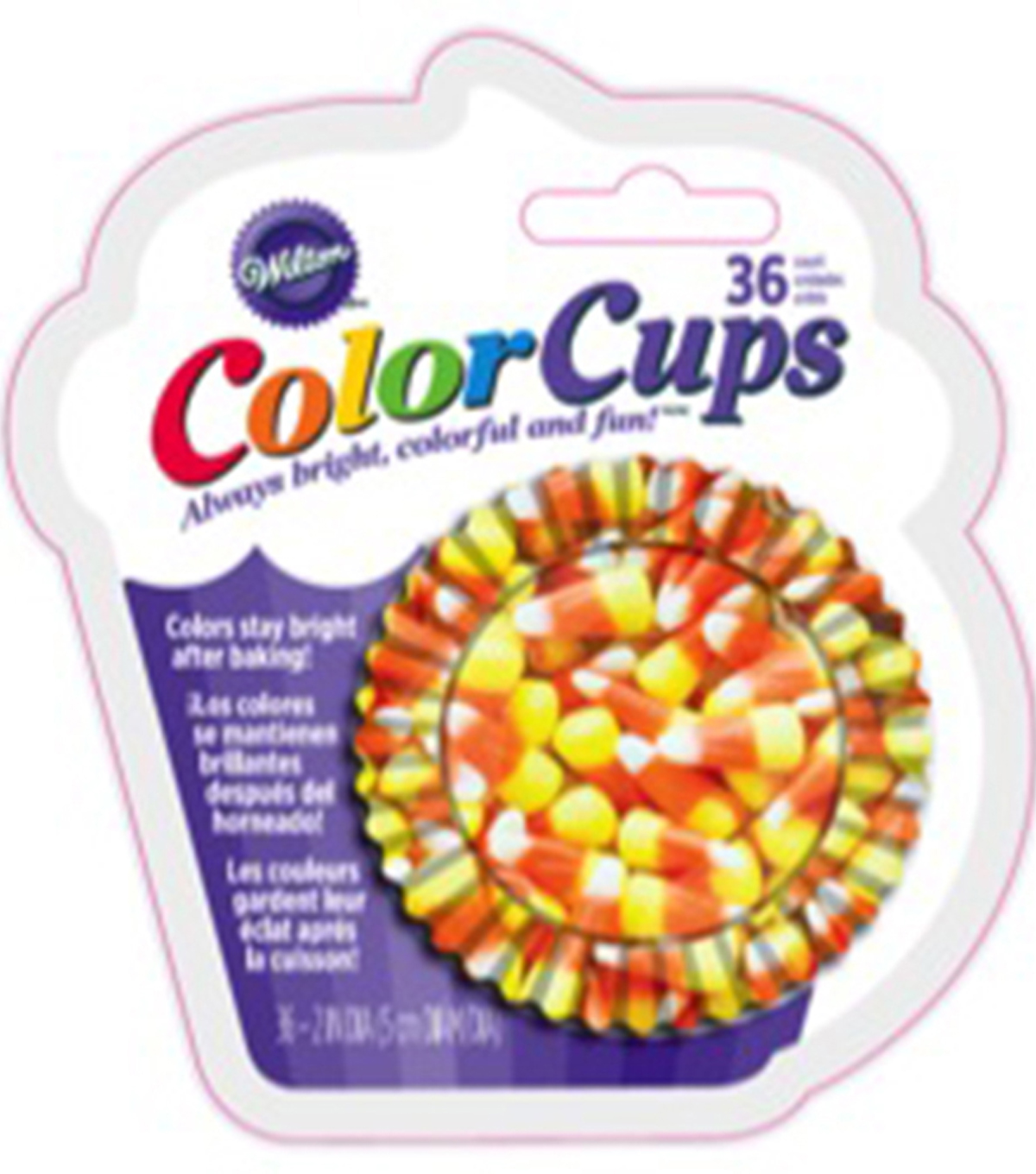 Wilton® Clearcup Standard Baking Cups-Photo Candy Corn 36/Pkg