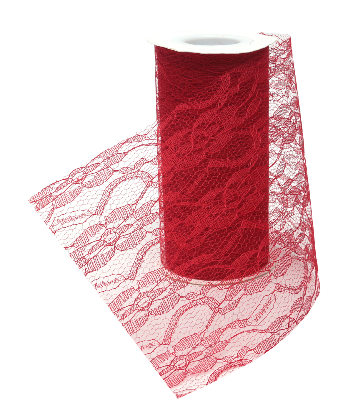 Lacey 6\u0022x15yds Ribbon-Red
