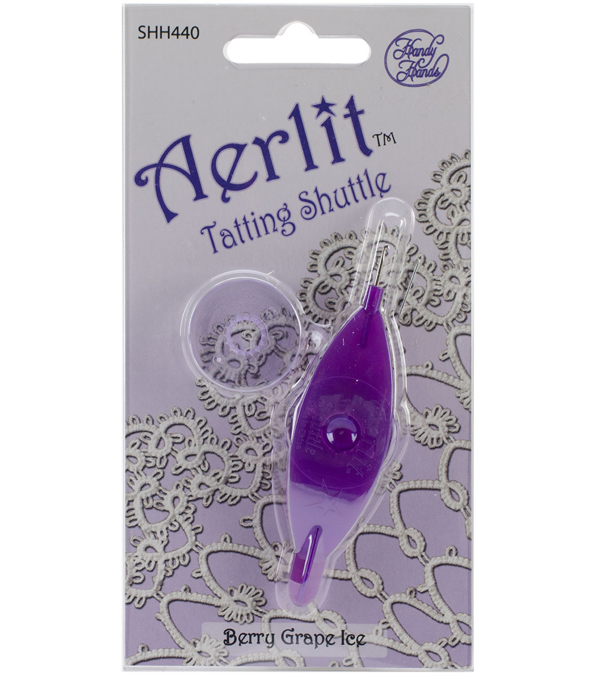 Aerlit Tatting Shuttle With 2 Bobbins
