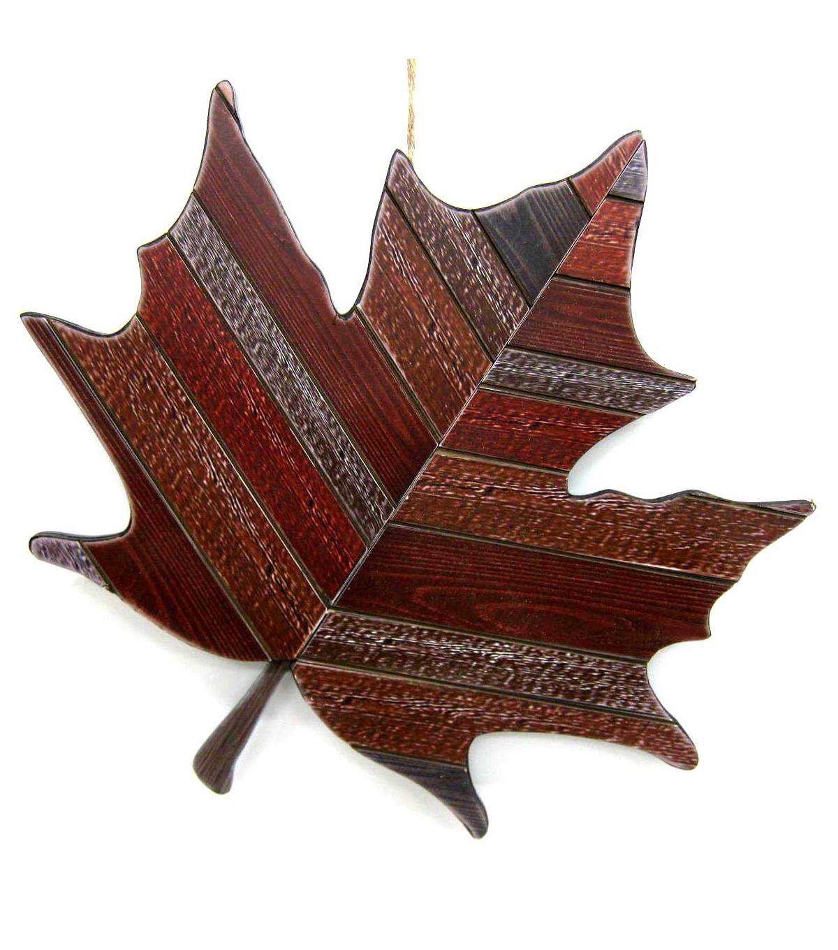 Fall Into Color Red Leaf Wood Wall Decor