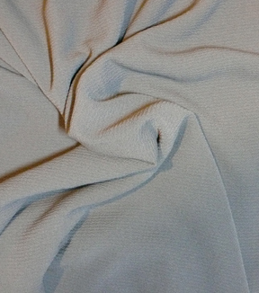 Silky Solid Crepe Fabric 58\u0022-Charcoal