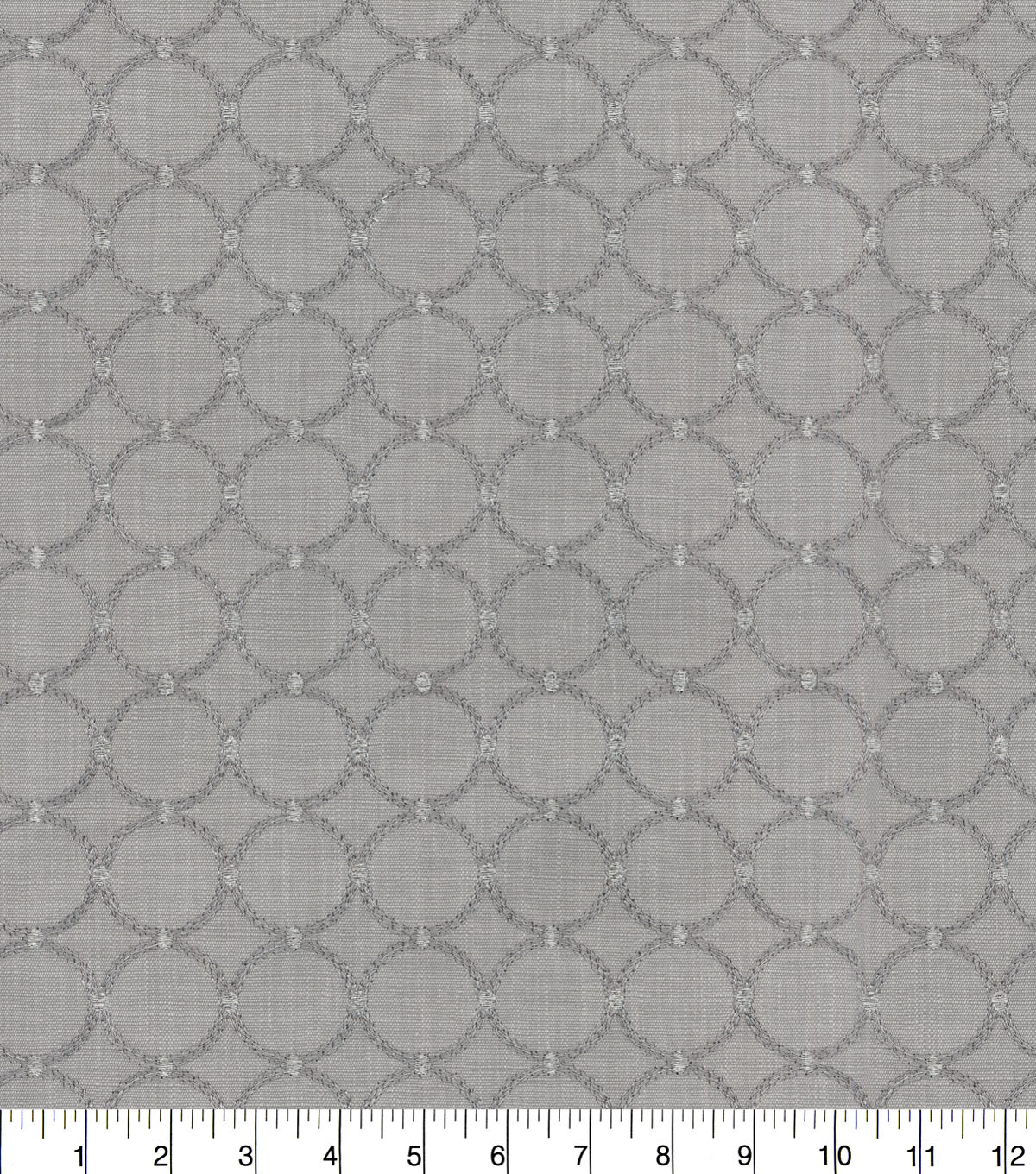P/K Lifestyles Upholstery Fabric 57''-Sterling Ringtone Embroidery