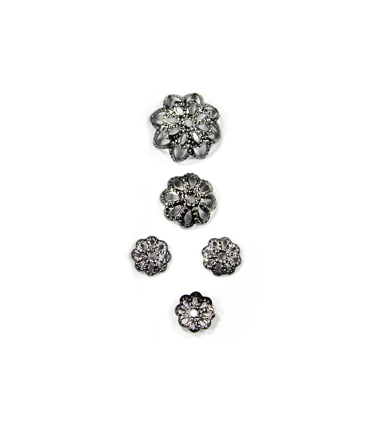 Blue Moon Findings Bead Cap Metal Multi Pack Filigree Black Nickel