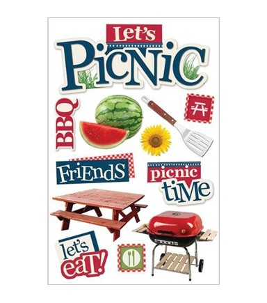 Paper House 3D Stickers- Let's Picnic