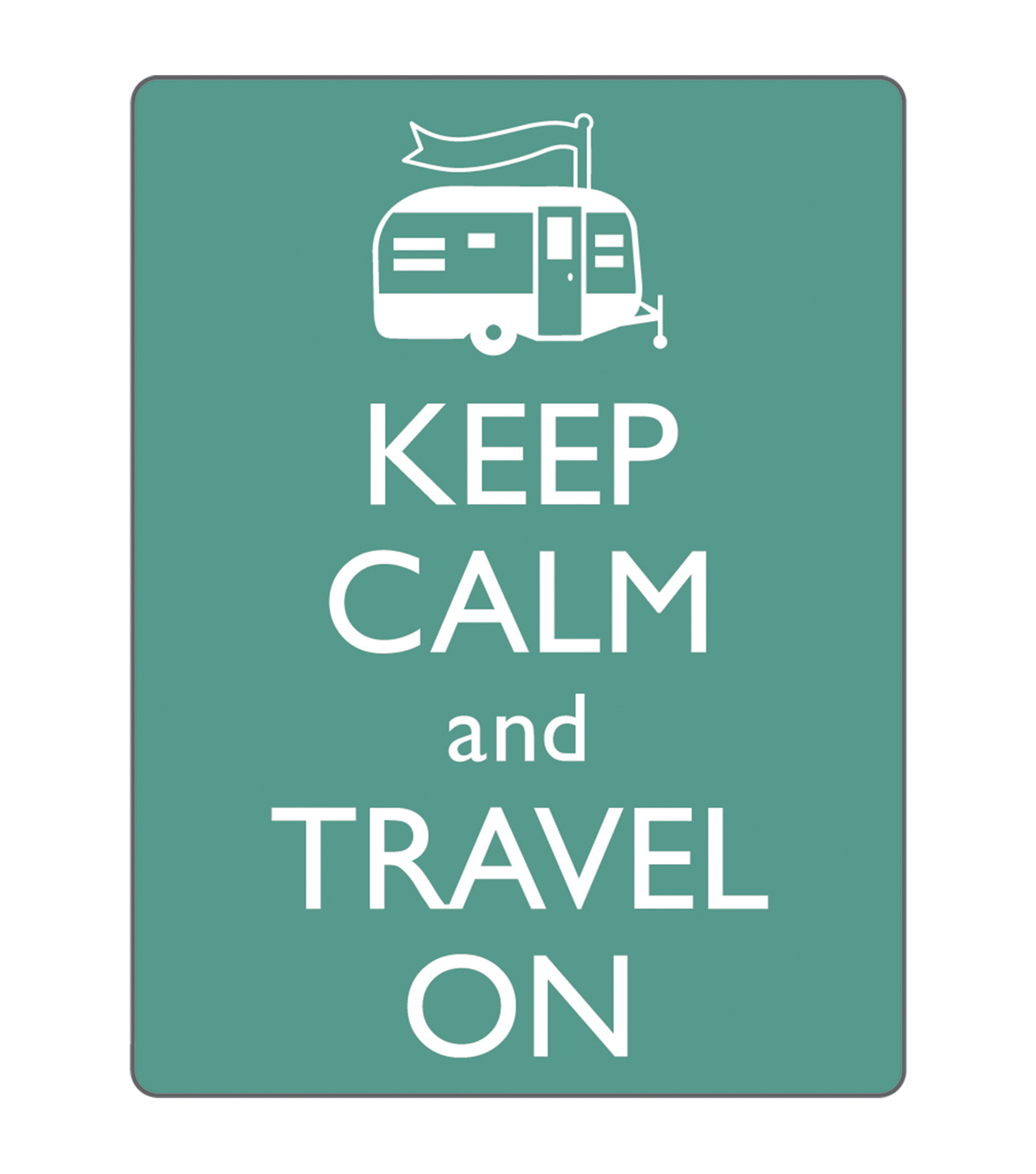 Sizzix® Textured Impressions Embossing Folder-Keep Calm & Travel On