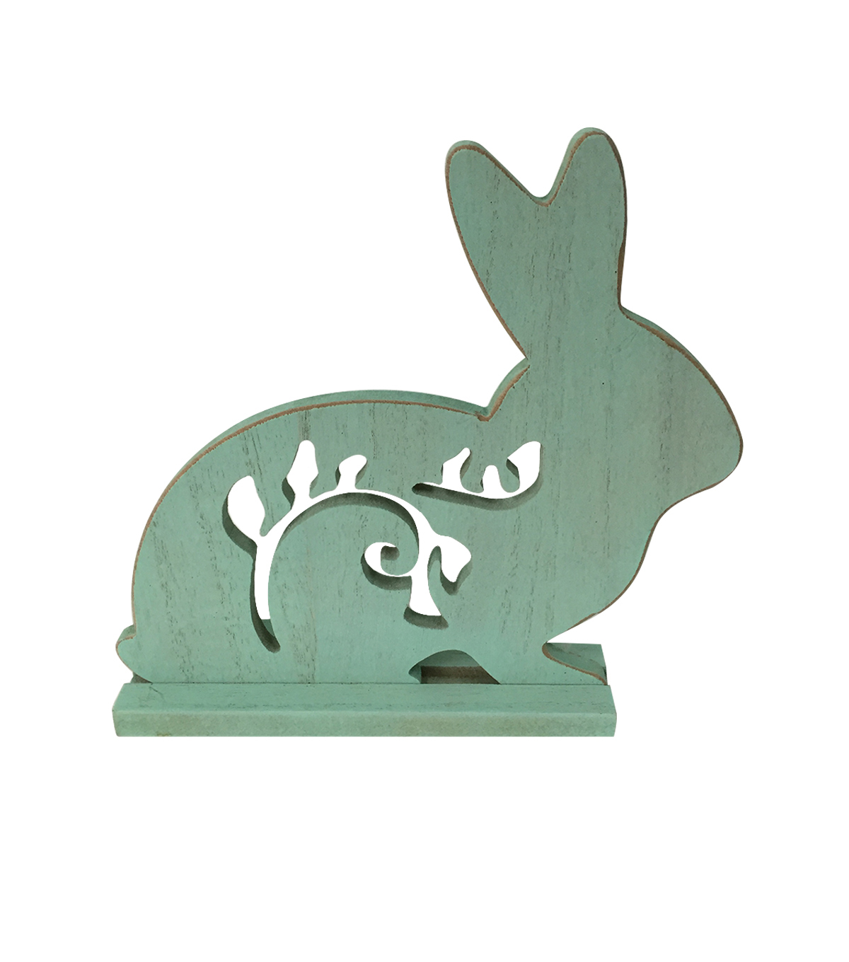 Easter Bunny Silhouette Table Decor-Blue