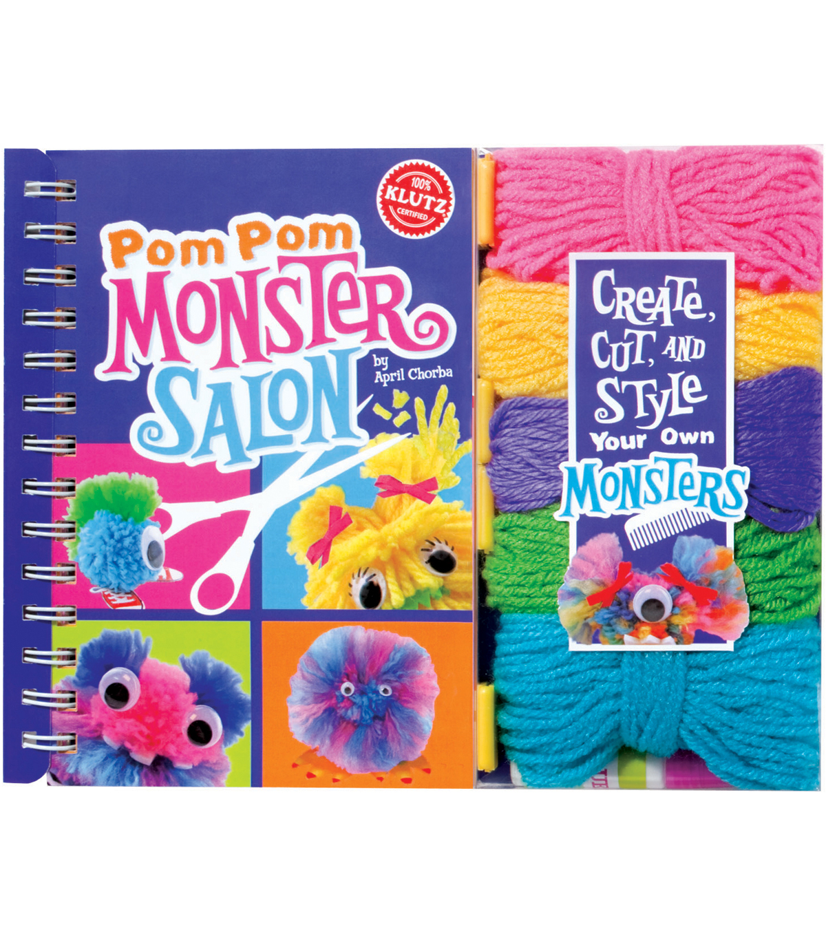 Klutz® Pom-Pom Monster Salon Book Kit